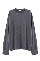TERRY OVERSIZED LONG SLEEVE GRAY - GHTG